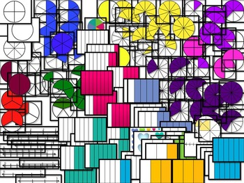 Fraction Clip Art Set 100 png Images