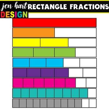 Fractions Clipart {Rectangles}