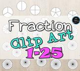 Fraction Clip Arts 1-25
