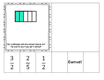 Fraction Clip and Assess Cards