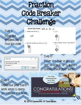 Fraction Code Breaker Challenge with PPT