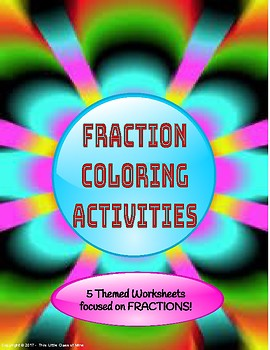 Fraction Coloring Activities
