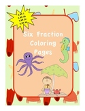 Fraction Coloring Pages and Worksheets