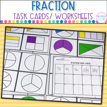 Fraction Bundle- Task Cards and Printables