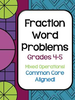 Fraction Common Core Word Problem Collection: Grade 4-5