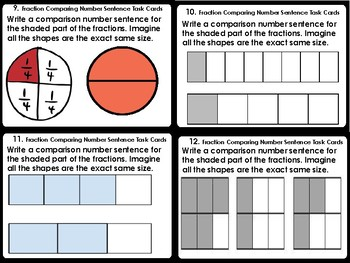 Fraction Comparing Task Cards (24 Cards)