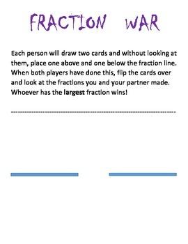 Fraction Comparison Game