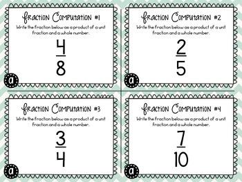 Fraction Computation Task Cards (6 Sets)