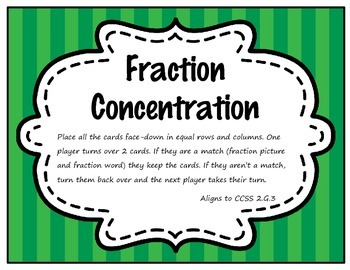 Fraction Concentration Memory Game (2.G.3)