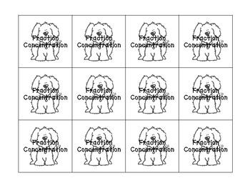 Fraction Concentration (for Halves, Thirds, & Fourths)