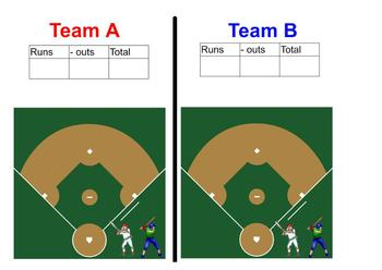 Fraction Concept Baseball Review Game