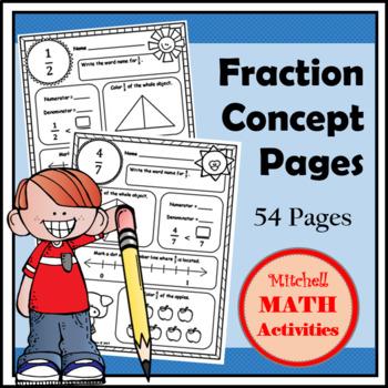 Fraction Concept Pages