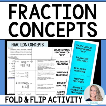 Fraction Concepts : Middle School Math Foldable Style Notes