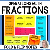 Fraction Operations : Middle School Math Foldable Style Notes