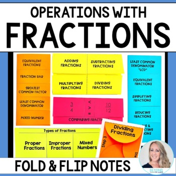 Fraction Operations Fold and Flip Notes