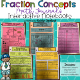 Fraction Concepts Journal Pages (Interactive Math Notebooks)