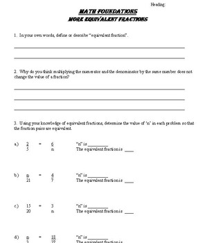 Fraction Concepts - Lessons and Worksheets (3rd-5th Grades)