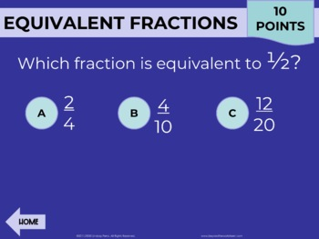 Fraction Operations PowerPoint Review Game