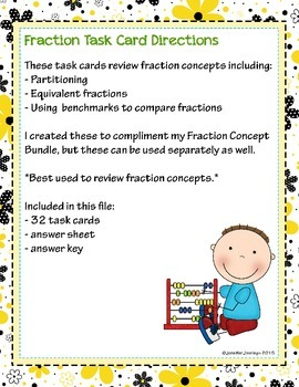 Fraction Concepts Task Cards