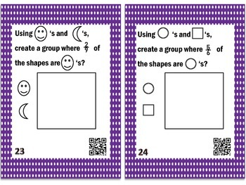 Fraction Concepts Task Cards with QR Codes