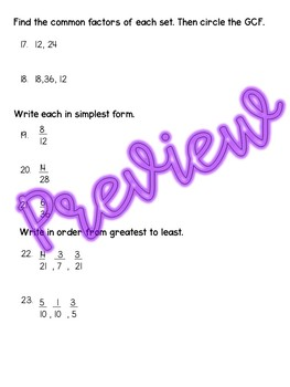 Fraction Concepts Test
