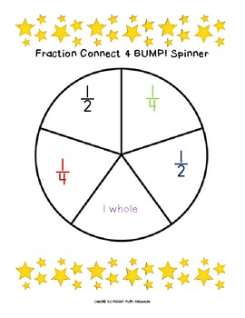 Fraction Connect 4 BUMP! {Halves, Fourths, and Wholes}