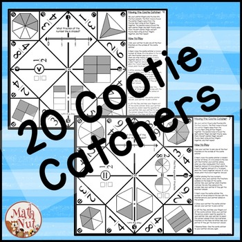 Fractions Games: Multiple Choice Cootie Catchers aka Fortune Tellers