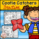 Fractions Cootie Catchers aka Fraction Fortune Tellers (Fraction Games)