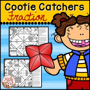"Fractions Cootie Catchers aka Fraction Fortune Tellers ""Fraction Games"""
