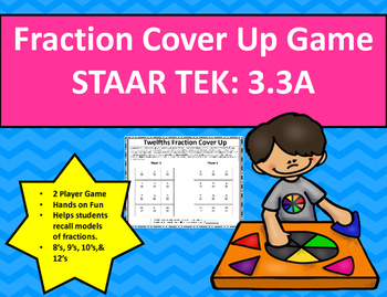 Fraction Cover Up Game STAAR TEK: 3.3A