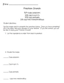 Fraction Crunch Recipe