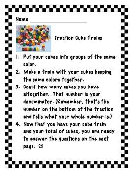 Fraction Cube Train