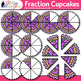 Cupcake Fraction Clip Art {Math Graphics for Games and Word Problems}