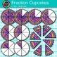Fraction Cupcakes Clip Art - Circle Fractions - Math Clip Art
