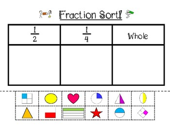 fraction cut paste by kindergarten monkey teachers pay teachers