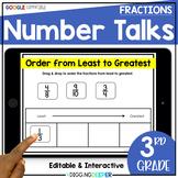 Digital Number Talks: Third Grade Fractions (math warm-ups)