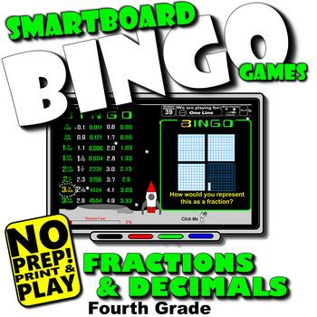 Fraction Decimal Bingo
