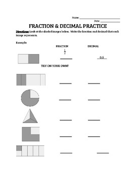 Fraction Decimal Conversion Practice