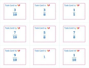 Fraction & Decimal Equivalents Task Cards