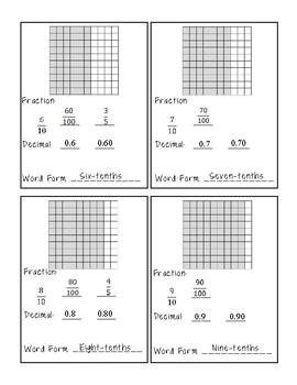 Fraction Decimal Fluency Cards