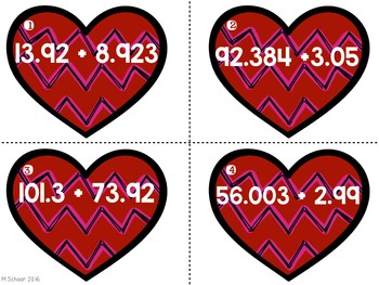 Fraction & Decimal Heart BUNDLE