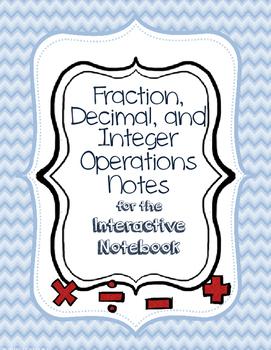 Fraction, Decimal, Integer Operation Quick Notes