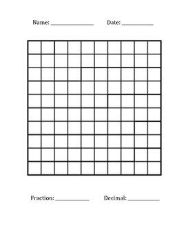 Fraction Decimal LetterName Grid Template