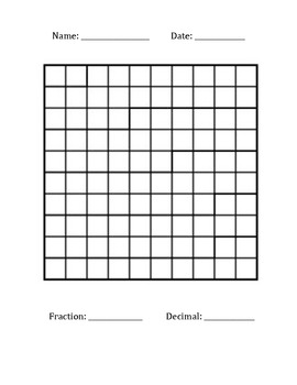 fraction decimal lettername grid template by dawn marie tpt