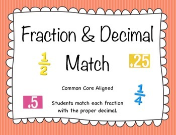 Fraction & Decimal Match