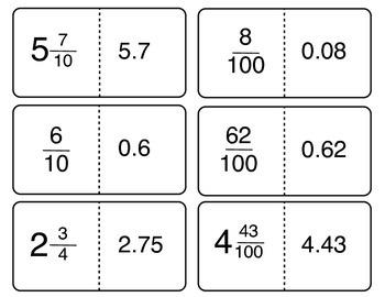 Fraction & Decimal Match