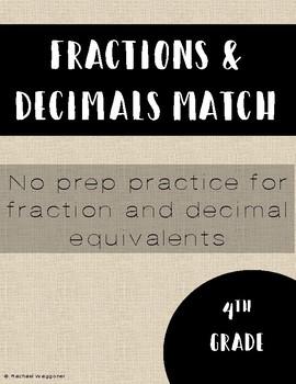 Fraction Decimal Match