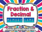 Fraction & Decimal Matching Game