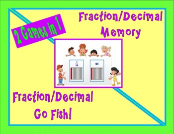 Fraction / Decimal Memory and Go Fish Games