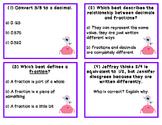 Fraction & Decimal Monster Task Cards